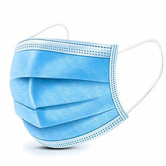 China 3 Ply Blue Color Cheap Price Disposable Face Mask Non Woven Material Used For Personal Protection supplier