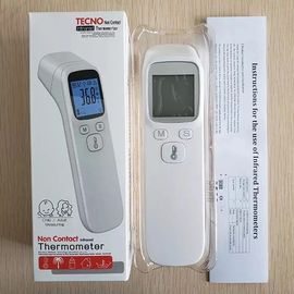Non-contact Digital IR infrared thermometers gun free hand design Red Electronic thermometers for Baby Adult