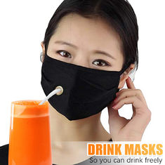 ready to ship new drink face mask with drink hole and opening for drinking